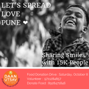 LET'S SPREAD LOVE PUNE : Food Sharing Drive