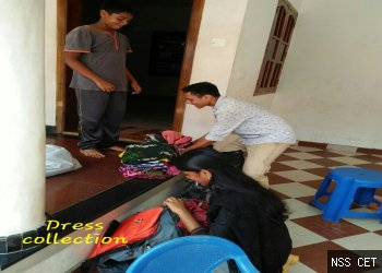 NSS CET - DRESS COLLECTION DRIVE - SHANTHVALA