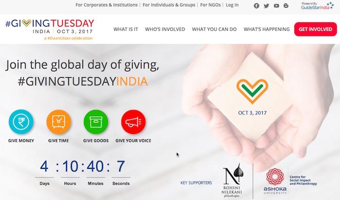 #GivingTuesdayIndia