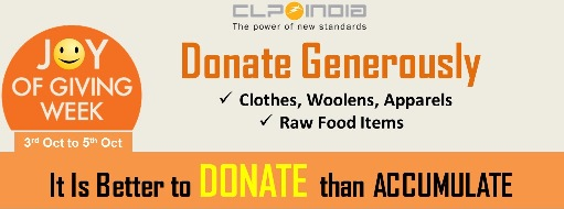 Joy of GIving //Donate Raw Food, Donate Clothes