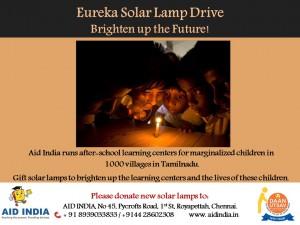 Eureka Solar lamp drive